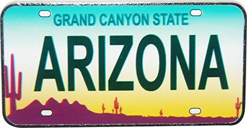 Arizona Magnet (Arizona License Plate Replica Metal Magnet)