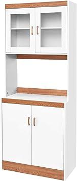 Giantex - Mueble de Cocina para microondas y Armario de Cocina ...
