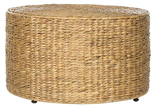 Safavieh Home Collection Jesse Natural Wicker Coffee Table (Living Room Honey Furniture Wicker)