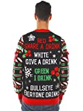 Tipsy Elves Mens Drinking Game Ugly Christmas Sweater - Funny Christmas Sweater