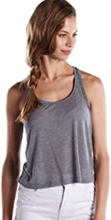 product image for US Blanks US510 Women's' Sheer Cropped Racer Tank Heather Grey XL