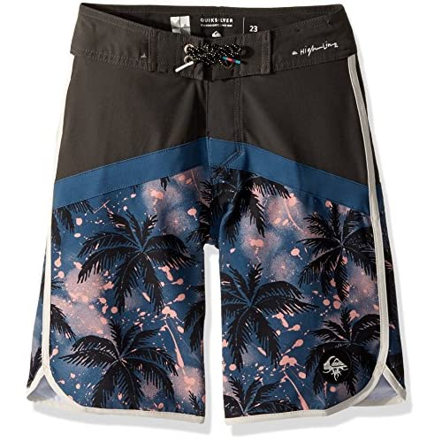 Quiksilver Big Boys' Crypt Scallop Youth Swim Trunk save more