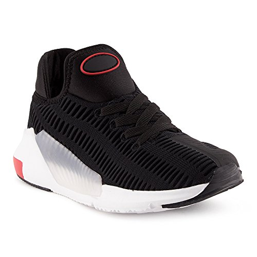 FiveSix Herren Damen Sneaker Schnürschuhe Sportschuhe Laufschuhe Freizeitschuhe Textilschuhe Low-Top Unisex Schuhe Schwarz-W