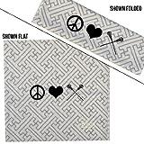 ChalkTalkSPORTS RokBAND Multi-Functional Headband - Peace Love Lacrosse - Maze