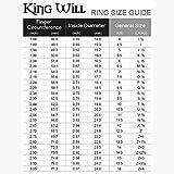 King Will Mens 8mm Black/Silver Tungsten Carbide