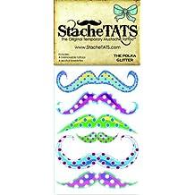 StacheTATS The Polka Glitter Temporary Mustache Tattoo