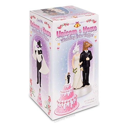 "Unicorn & Horse Novelty Wedding Cake Topper-6 1/4"" High"