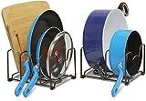SimpleHouseware 2PK Kitchen Cabinet Pan and Pot Lid Organizer Rack, Total 6 ...