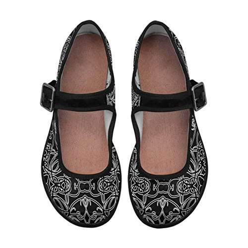 Interestprint Femmes Confort Mary Jane Appartements Casual Chaussures De Marche Multi 10