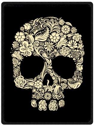 amazon com top design dia de los muertos suger skull and flower