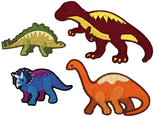 Simplicity Dinosaur Applique Clothing Iron On Patches, 4pc
