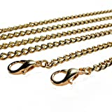 Kroo Purse Chain Strap Replacement for Crossbody Bag Handbags 46 inches (Basic Gold)