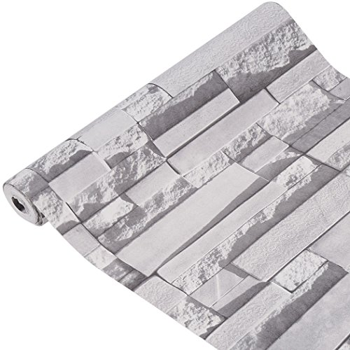 Marketworldcup-3D Brick/Stone PVC Wallpaper Bedroom Roll Embossed Wall Background 10M Home D-I-Y (Aquarium Dvd Background)