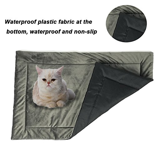 Dog Bed Mat Washable Soft Fleece Crate Pad - Anti-Slip Fleece Kennel Pad for Small Medium Large Pets Mattress by HAOLONGXIANG (Image #3)