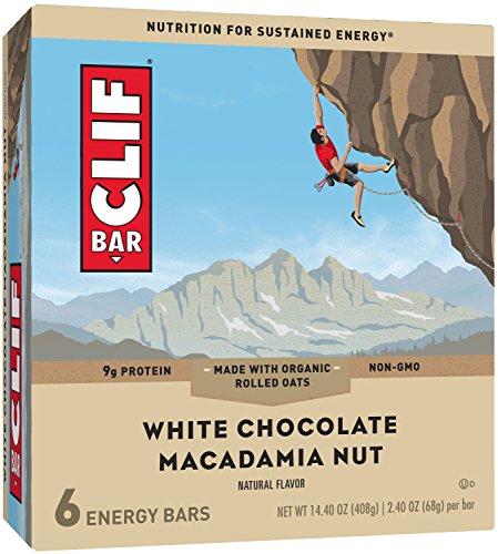 CLIF BAR - Energy Bar - White Chocolate Macadamia - (2.4 Ounce Protein Bar, 6 Count)