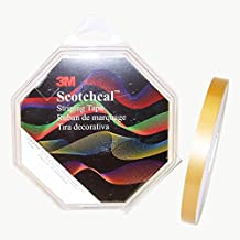 3M (72799) Striping Tape 72799, Bright Gold Metallic, 1/2 in x 150 ft [You are purchasing the Min order quantity which is 1 ROLL]