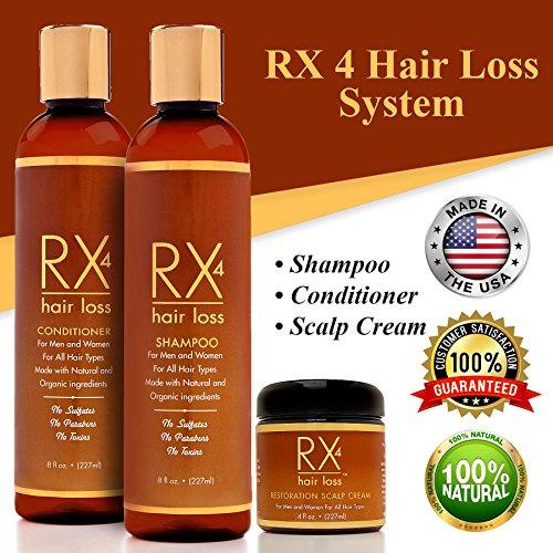 Rx 4 Hair Loss Unisex Organic Anti-hair Loss Shampoo with Guide, 8 fl. oz. / 227ml
