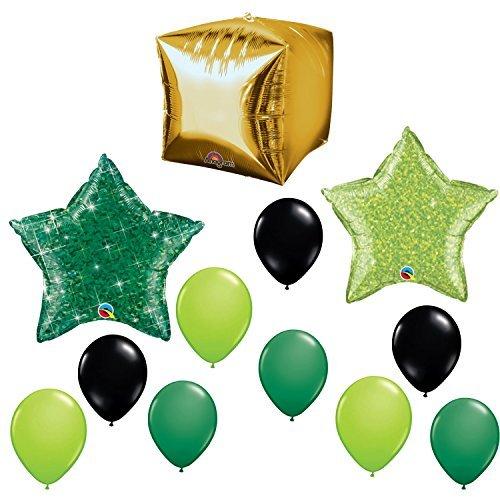 angram Mining Gold Pixel Balloon Decoration Kit]()