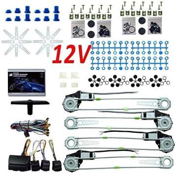 Btdahong 12v Torque Motor Elektrische Fensterheber Kit Für 4 Türen Nachrüstkit Universal Fensterheber Set Mit Zubehörsatz Auto