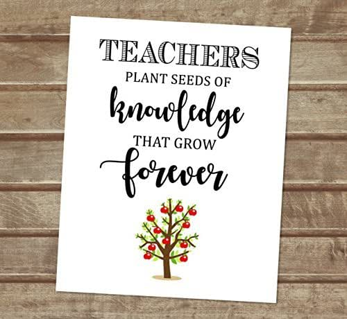 Quotes About Teachers Planting Seeds: Amazon.com: Teachers Plant Seeds Of Knowledge That Grow