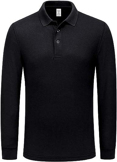 Miqieer Men's Long Sleeve Polo Shirts Regular-Fit Cotton Golf Polo Shirts
