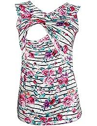 Women's Sleeveless Maternity Breastfeeding and Nursing Tank Top Cami Vest