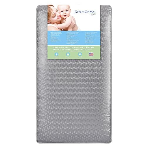 "Dream On Me, Superior Slumber 6"" 112 Coil Inner Spring Crib And Toddler Mattress I Waterproof I Green Guard Gold Certified I 10 Years Manufacture Warranty I Vinyl Cover I Made In The U.S.A"