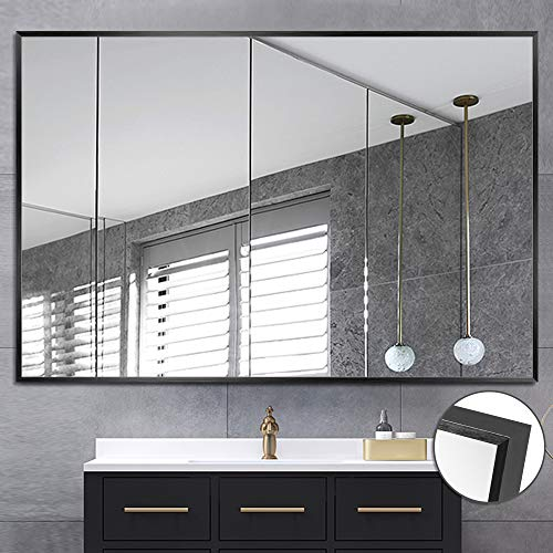 NeuType Large Wall Mounted Mirrors for Bathroom Bedroom Living Room, Vanity Mirror, - Aluminum Framed Mirrors Bathroom