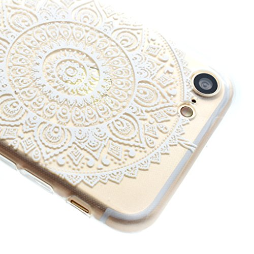 iPhone 7 Plus Cover , YIGA Trasparente Dreamcatcher Silicone Cristallo Morbido TPU Case Custodia per Apple iPhone 7 Plus 5.5