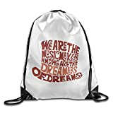 young frankenstein merchandise - Unisex Willy Wonka Hat Dreams Brown Sports Drawstring Backpack Bag