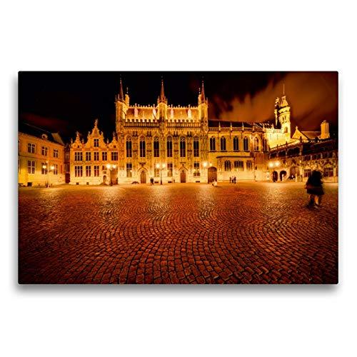 75 x 50 cm Premium Textile Toile de 45 cm x 30 cm paysage Grand-Place, 90x60 cm