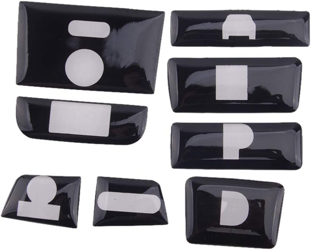 CITALL 8pcs//Set Glossy Black Inner Gear Shift Switch Button Guard Cover fit for Honda Accord 2018-2020