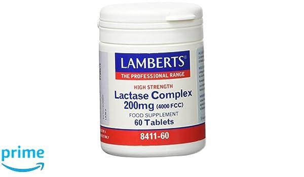 Lamberts Complejo de Lactasa 200mg - 60 Tabletas: Amazon.es: Salud y ...