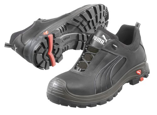 Puma Safety Shoes 4H Mens Athletic Style Work Shoes, Composite Toe Type, Black, Size 9EE 640425 09 - 1 Each
