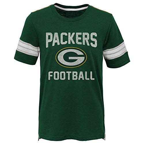 (Outerstuff NFL NFL Green Bay Packers Kids Prestige Short Sleeve Crew Neck Tee Hunter Green, Kids Large(7))