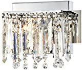 Possini Euro Hanging Crystal 7 3/4'' Wide Chrome Wall Sconce