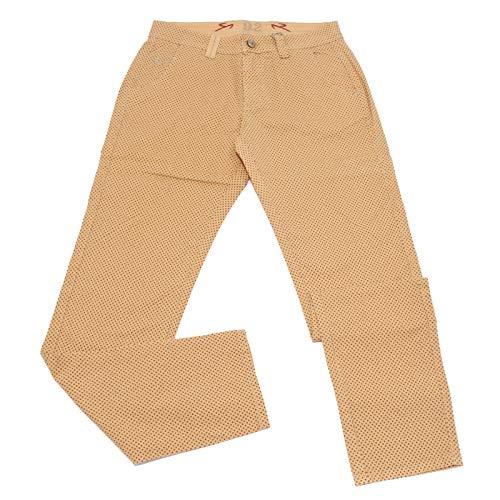 b82249296f 9.2 CARLO CHIONNA 5019X Pantalone uomo Orange Blue Cotton Trouser ...