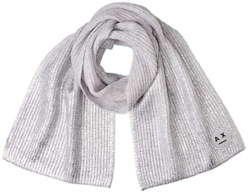 A|X Armani Exchange Women's Smile Logo Scarf, Misty Gery/dyecoated, TU