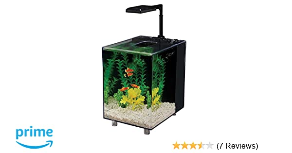 Amazon.com : Penn Plax Prism Nano Aquarium Kit With Filter and LED Light, Desktop Size, Black, 2 Gallon : Aquarium Starter Kits : Pet Supplies