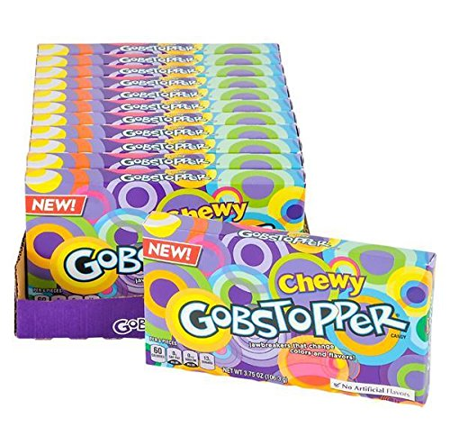GOBSTOPPER CHEWY THEATER BOX CANDY 12PC/CASE, Case of 2
