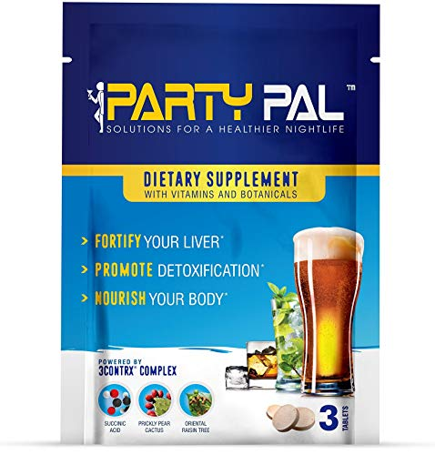 PartyPal® (20) Natural Hangover Prevention Helper, Not a Hangover Cure or Hangover Pills | Detox & Enhance your body's ability to metabolize toxins | Replenish & Revitalize |100% Money Back Guarantee!