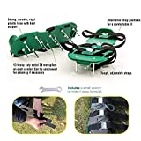 Oceanpax Lawn Aerator Spike Shoes 26 Spikes and 4