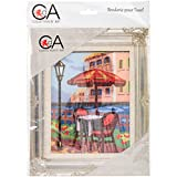 RTO Summer Cafe Collection D'Art Stamped Needlepoint Kit