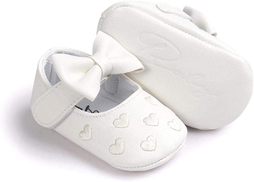 Gotd Baby Girl Bowknot Leater Shoes Sneaker Toddler Anti-slip Soft Sole