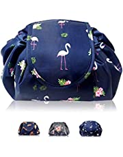 Makeup Organiser, Home-Mart Portable Lazy Drawstring Makeup Bag Travel Cosmetic Bag Pouch Toiletry Organizer Waterproof Large for Women and Girls