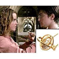 St. Lun Harry Potter Hermione Granger Rotating Time Turner Necklace Gold Hourglass