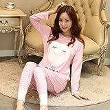 mh-rita 2016New invierno de algodón pijama entero pijamas para mujer pijama Femme Mujer pijamas mujer pijama feminino Pajama Mujer PIGIAMI, M