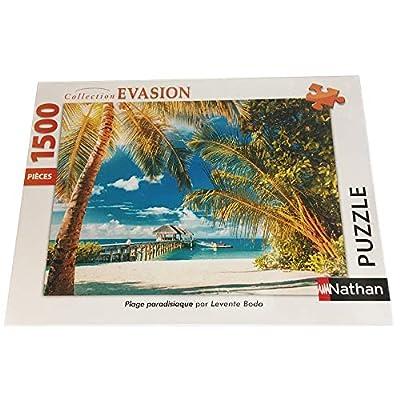 Nathan 1500 Pezzi Paradisiaca Casse Tete Puzzle Adulto Spiaggia Paesaggio Viaggio 4005556877942 Nant