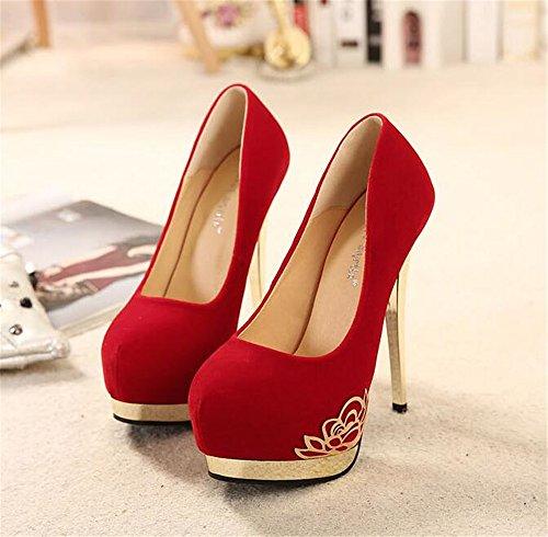 Shoes Shoes Bride for Wedding Flat Red Shoes YUBUKE Flat Cx5fFqn