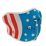 ZANheadgear Neoprene Half Face Mask, Stars and Stripes, Glow in the Dark